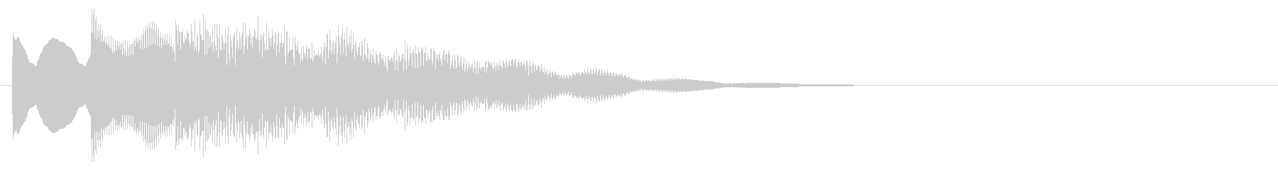 マレット系 キャンセル音6(中)の未再生の波形