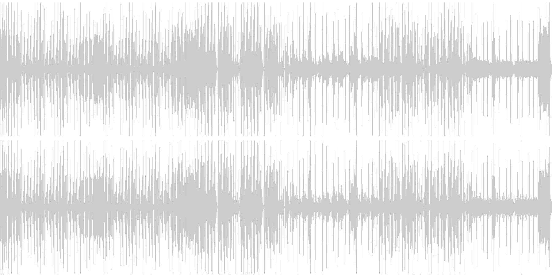 時間制限があり、少し焦るステージのBGMの未再生の波形