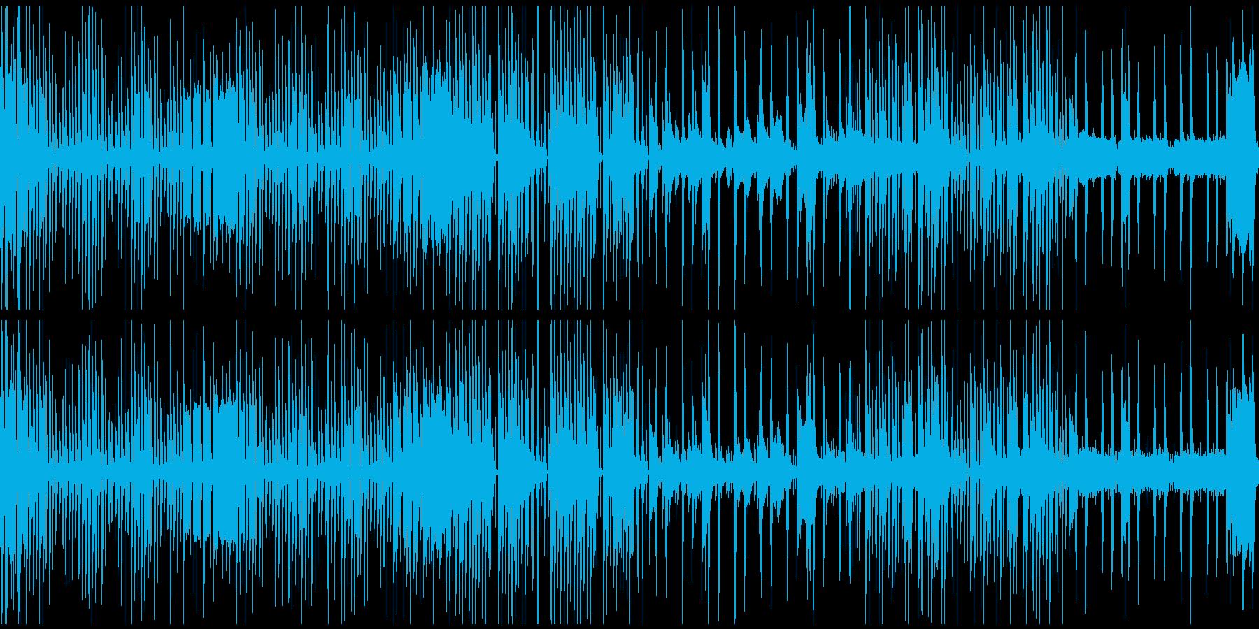 時間制限があり、少し焦るステージのBGMの再生済みの波形