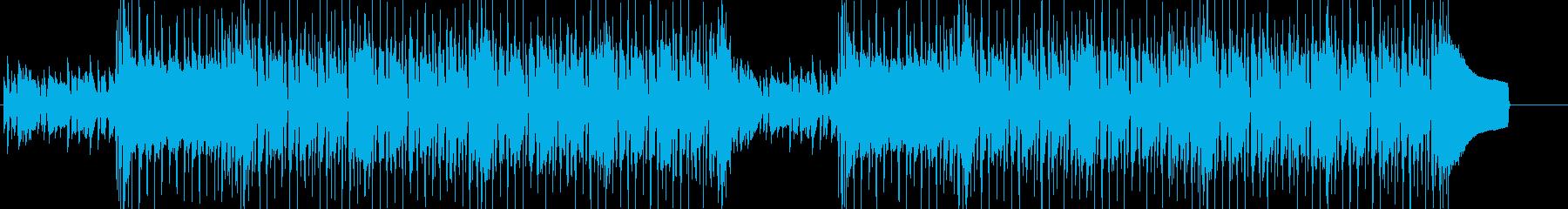 軽快でお洒落な日常系BGMの再生済みの波形