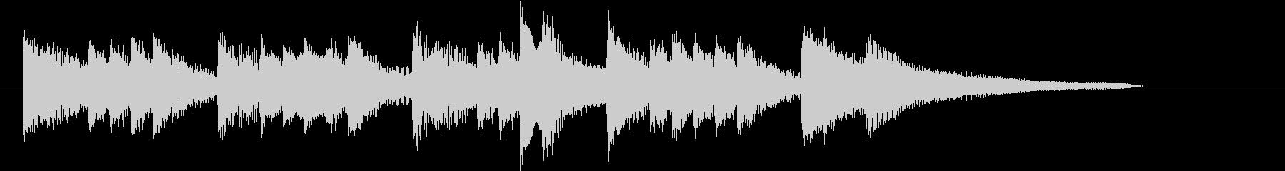 ピュアなイメージのソフトなピアノジングルの未再生の波形