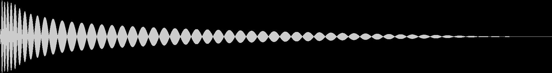 DTM Kick 65 オリジナル音源の未再生の波形