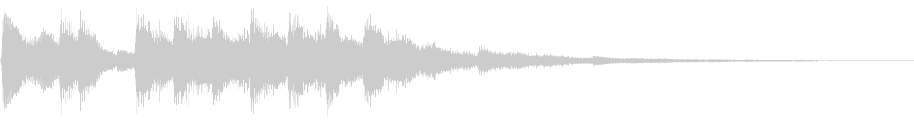 レトロなステージクリア ファンファーレ風の未再生の波形