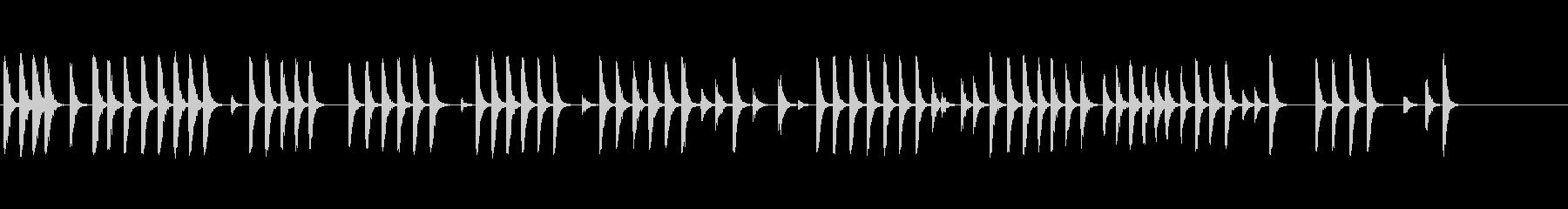 ハンマーが木を吹くの未再生の波形