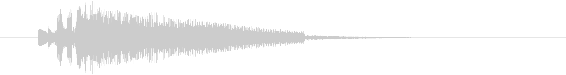 終わり、場面切り替え等を表現したジングルの未再生の波形