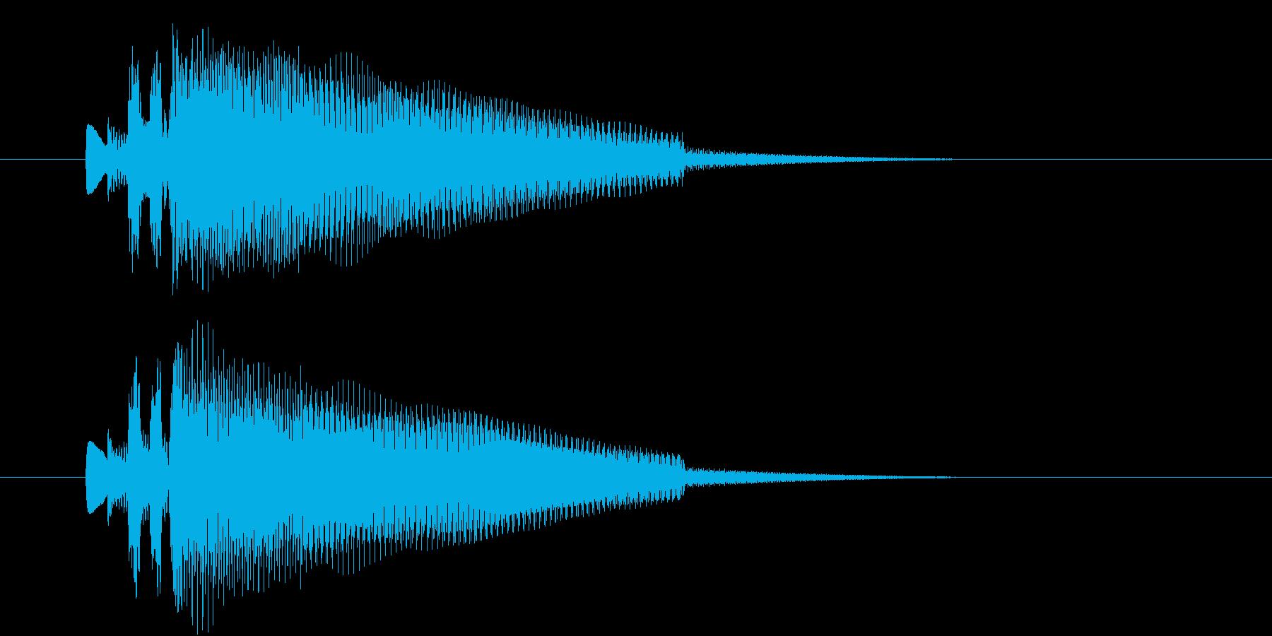 終わり、場面切り替え等を表現したジングルの再生済みの波形