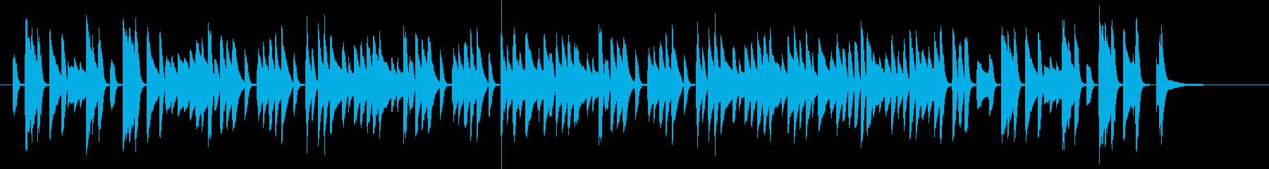 あやしくコミカルなピアノソロの再生済みの波形