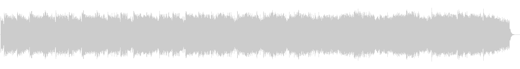 ピアノとストリングスの穏やかなBGMの未再生の波形