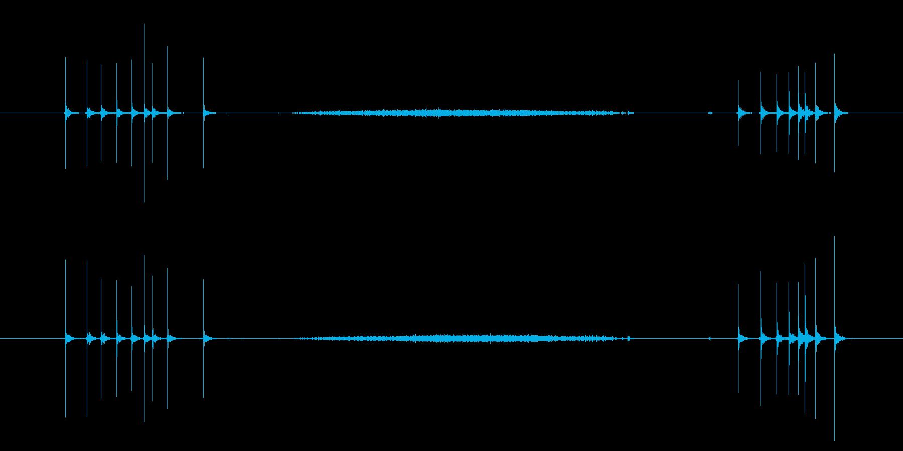 カッターナイフ 出す切るの再生済みの波形