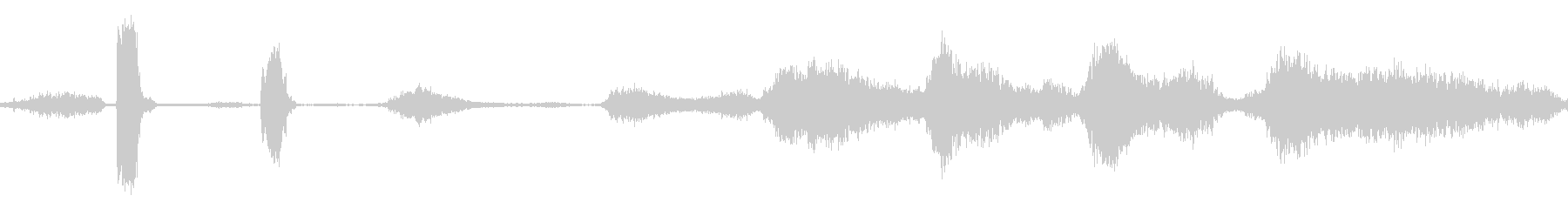 モンスターの呼吸と喘鳴モノの未再生の波形