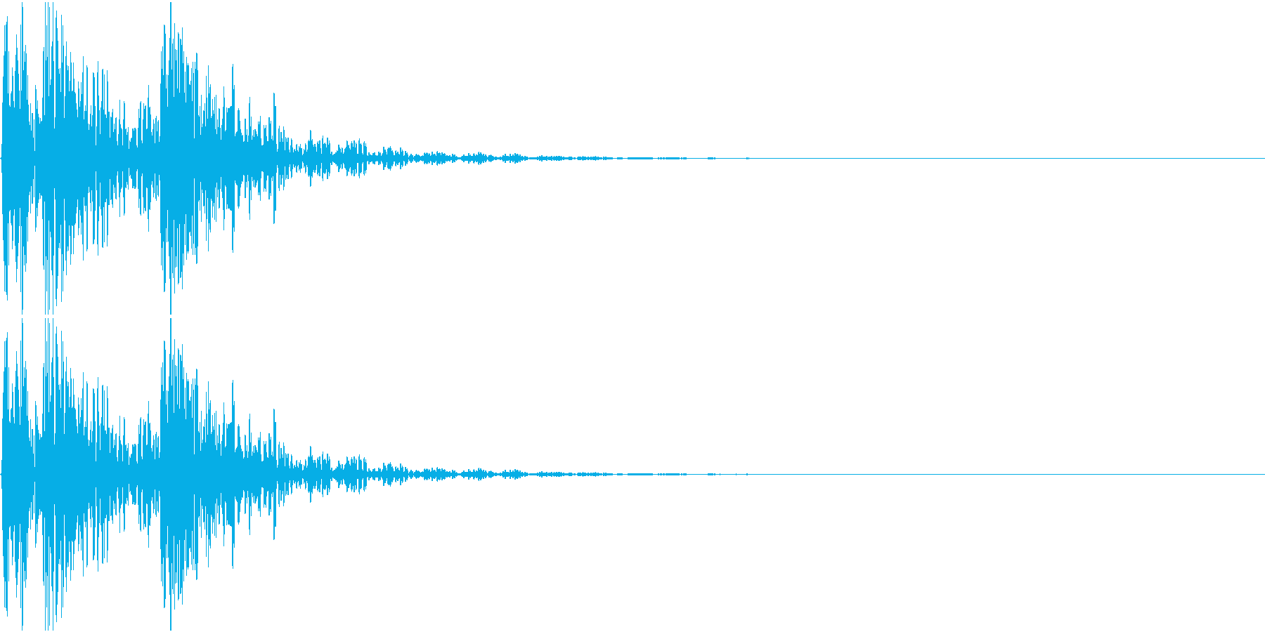 [[ドドンドン!]] 和太鼓の音 3発 の再生済みの波形