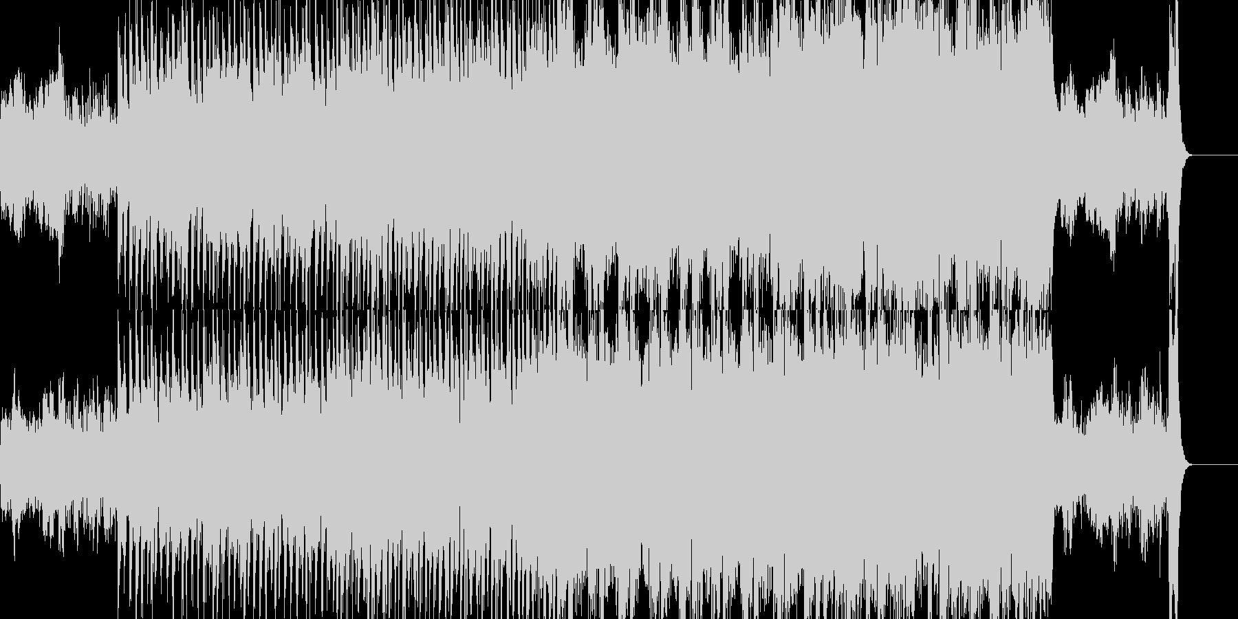 生オーケストラ仕立ての壮大な感じの行進曲の未再生の波形
