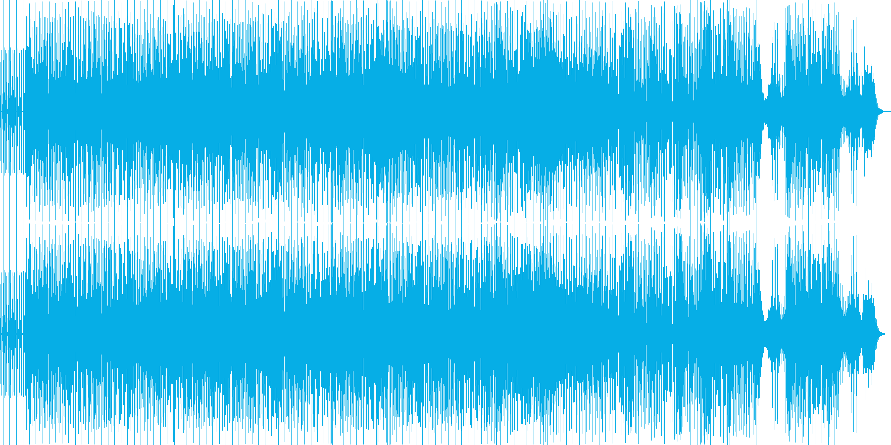 電子音を使ったキャッチーな曲調の再生済みの波形