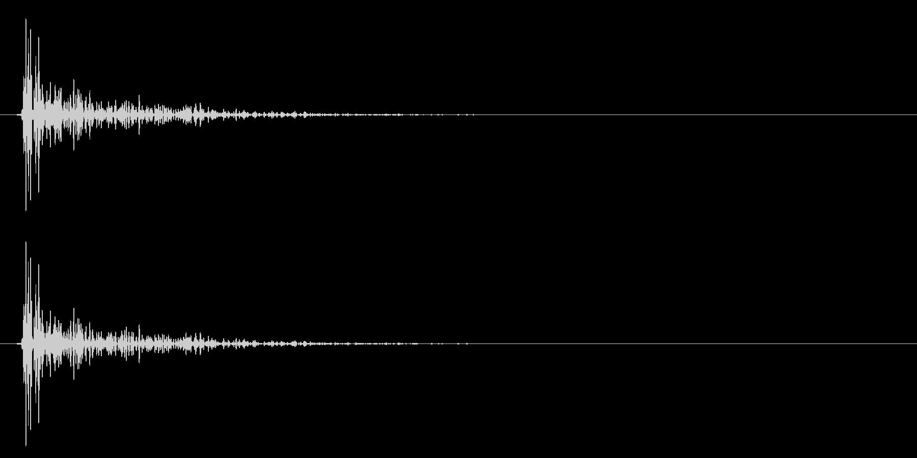 コンと木の板を叩いたような選択音_1の未再生の波形