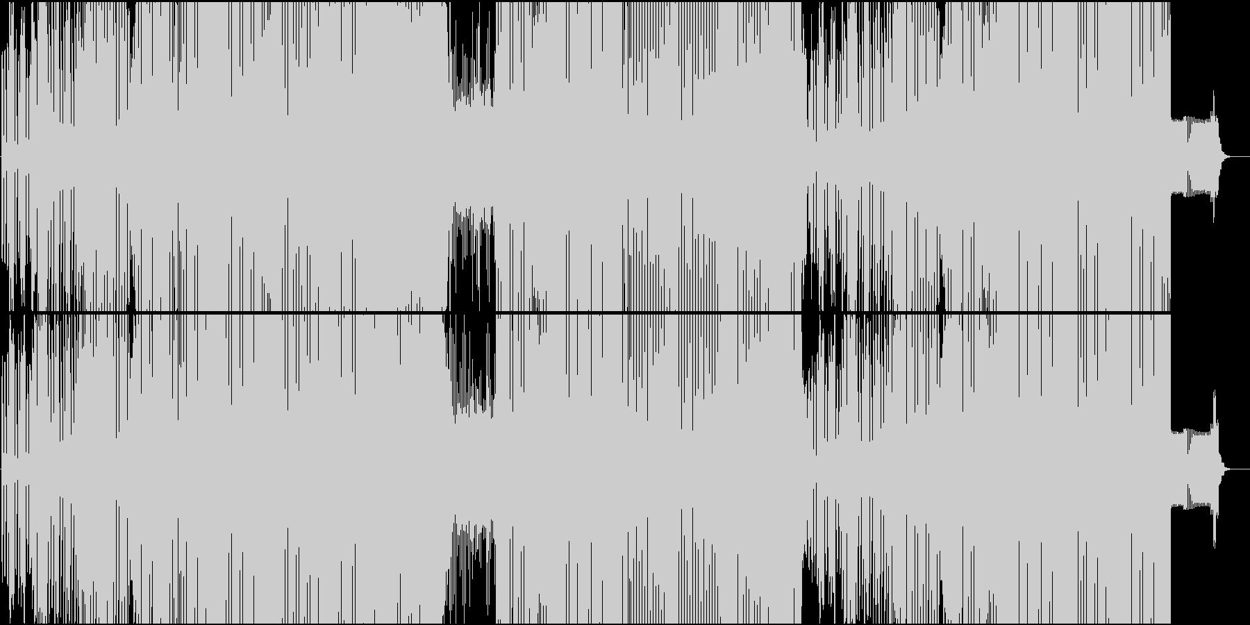 男性ボイスやラップが楽しいEDMの未再生の波形