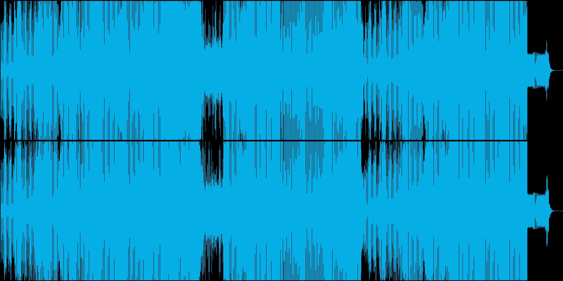 男性ボイスやラップが楽しいEDMの再生済みの波形