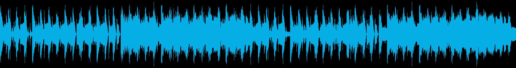 元気、楽しい、おしゃれ短尺テクノBGMの再生済みの波形