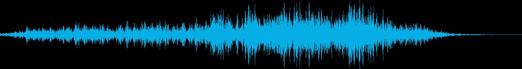 馬の鳴き声(ブヒヒン)の再生済みの波形