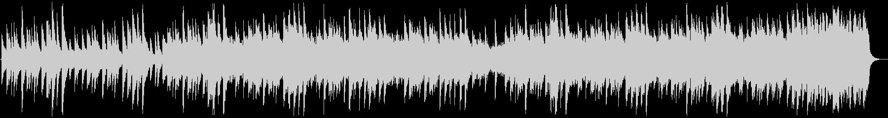 ゆっくりで静かな切ないBGMの未再生の波形