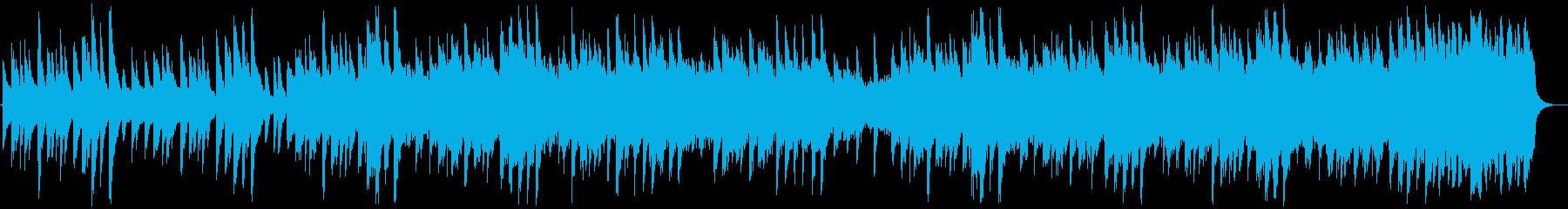 ゆっくりで静かな切ないBGMの再生済みの波形