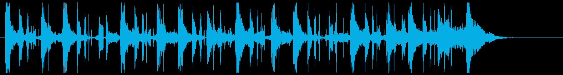 シシオドシをイメージした和風ジングルの再生済みの波形