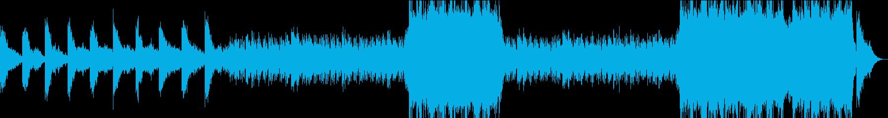手回しオルガン風の曲調の再生済みの波形