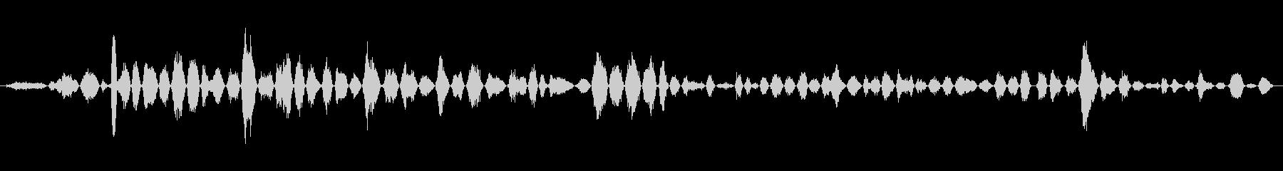 呼吸 女性の恐怖シーケンス01の未再生の波形