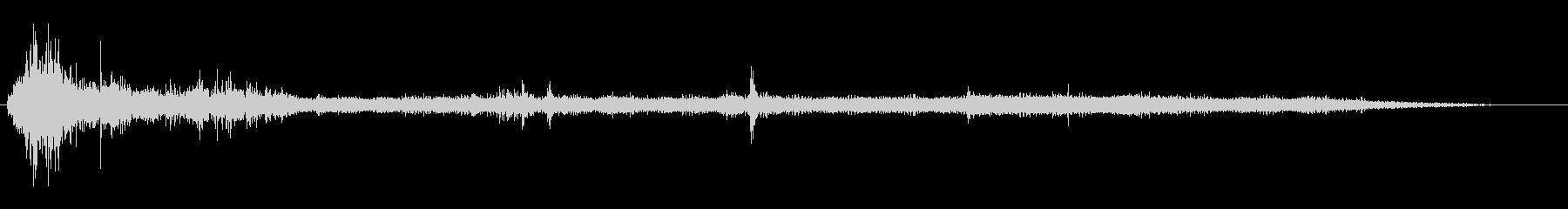 ごみ処理(オン、実行、オフ)の未再生の波形