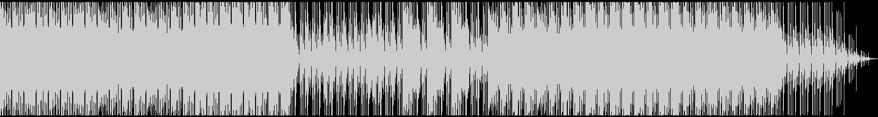 ダークな雰囲気のハイテンポBGMの未再生の波形