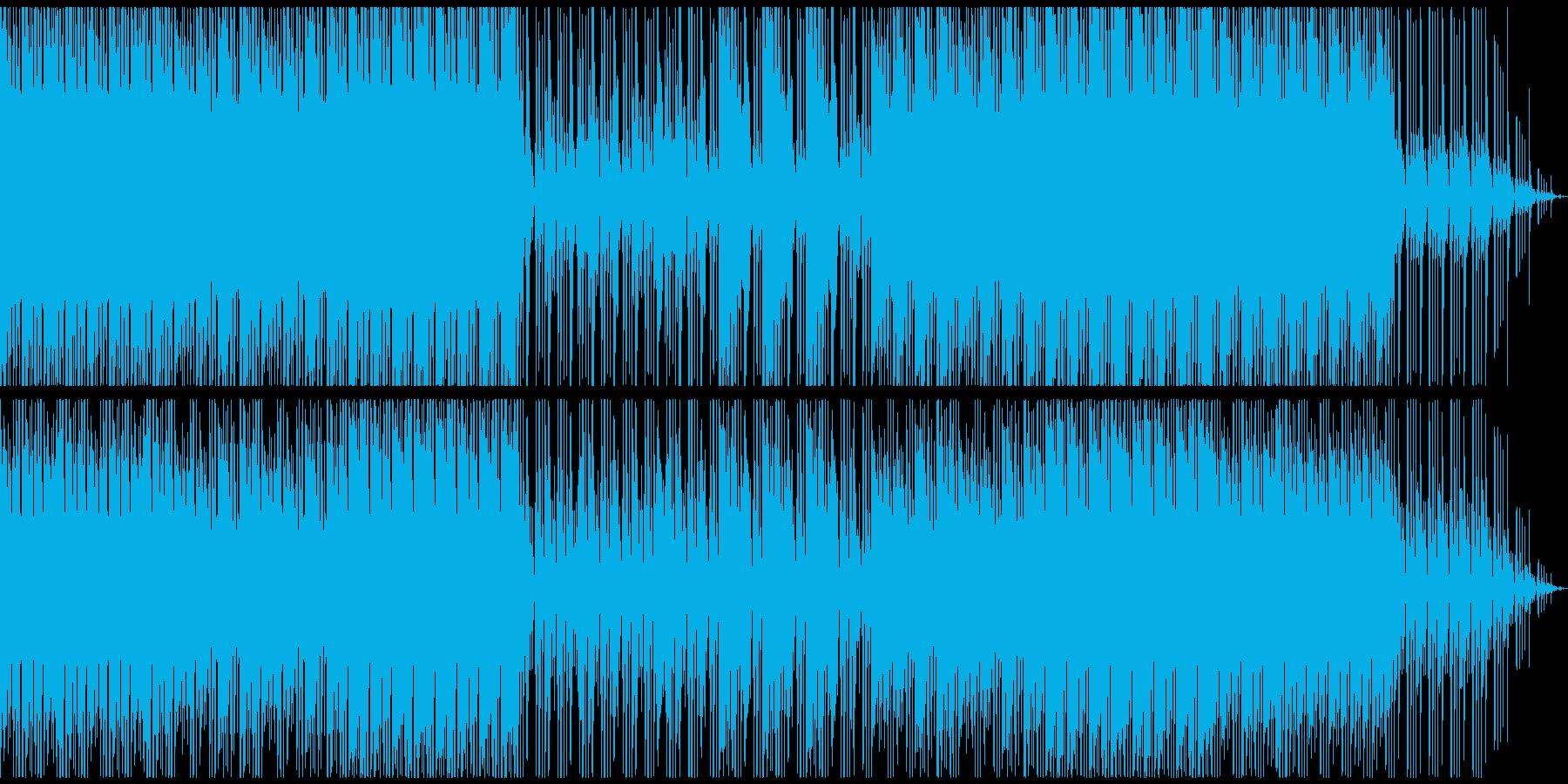 ダークな雰囲気のハイテンポBGMの再生済みの波形