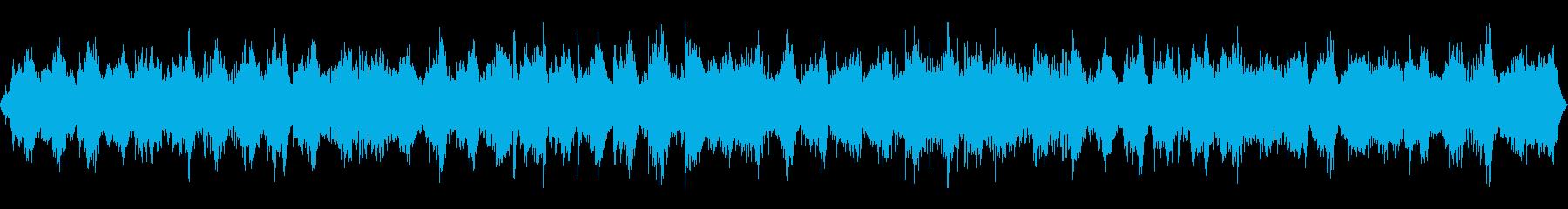 自然音とソルフェジオ周波数を用いたBGMの再生済みの波形