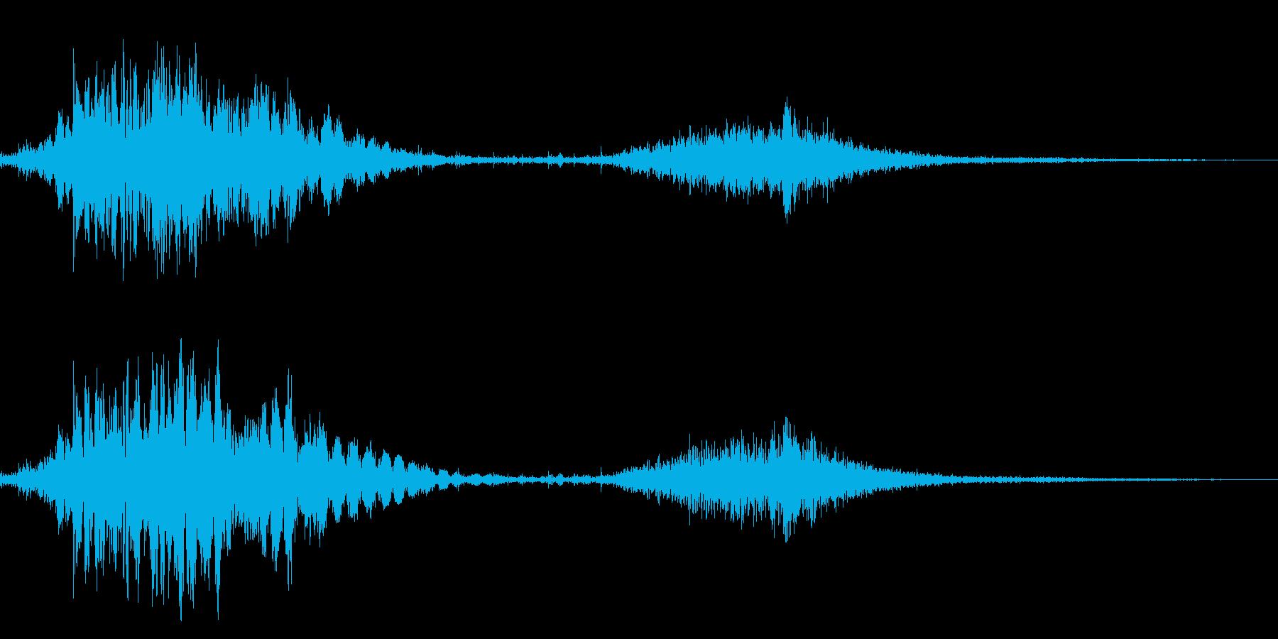 斬撃音!(刀や剣で斬る/刺す効果音)8cの再生済みの波形