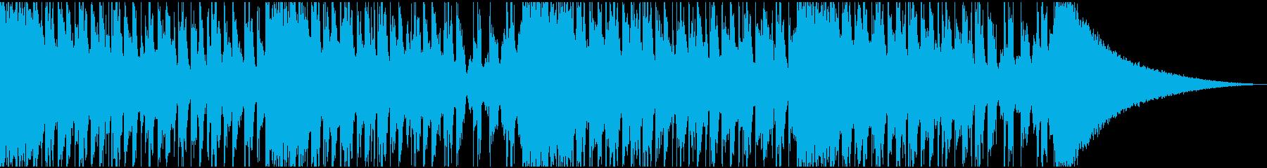 常夏をイメージしたトロピカルハウスの再生済みの波形