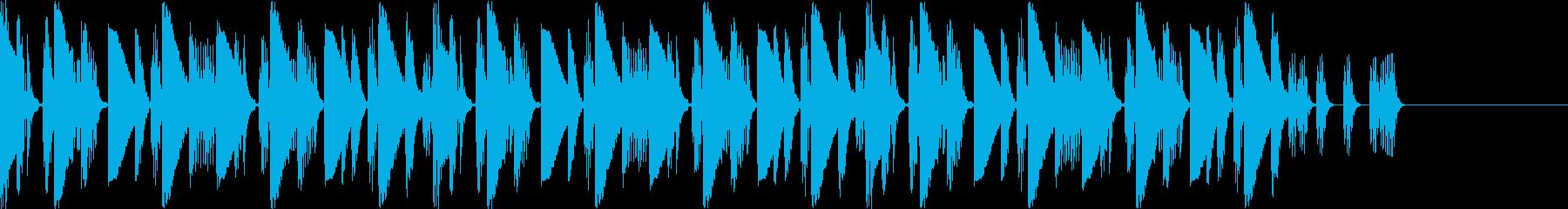 ハウスよりのBGMの再生済みの波形