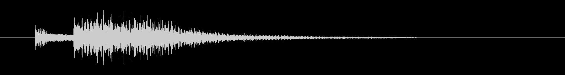 チャラララララン(終わり、お琴)の未再生の波形
