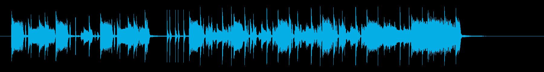 リズミカルでキャッチ―なシンセジングルの再生済みの波形