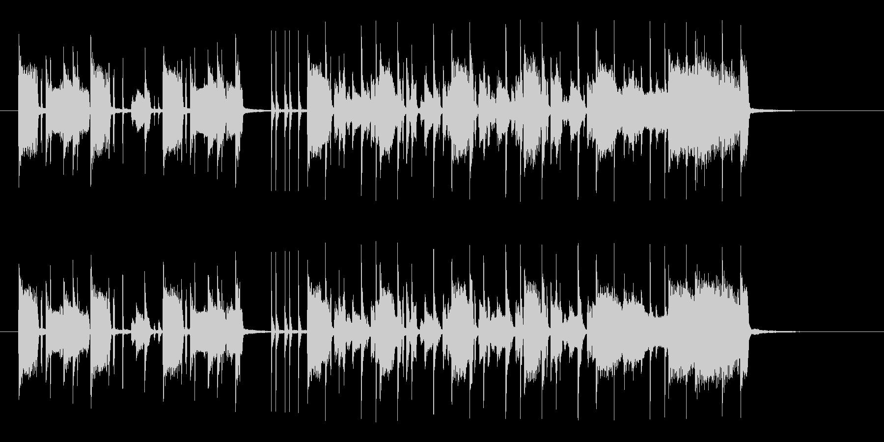 リズミカルでキャッチ―なシンセジングルの未再生の波形