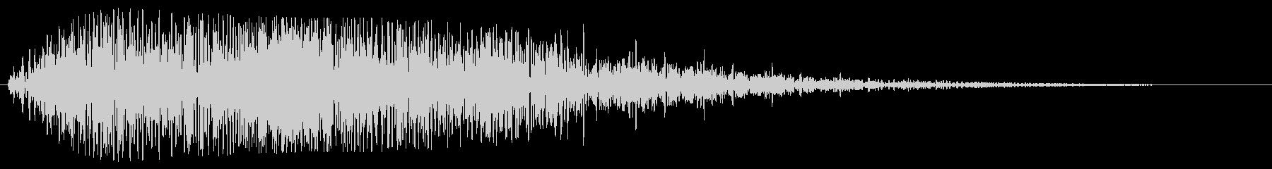 キラリン(透明感のある明るい効果音)の未再生の波形