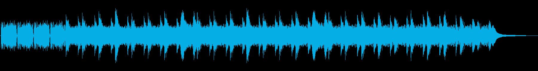 きらきらおしとやかな可愛いピアノソロの再生済みの波形