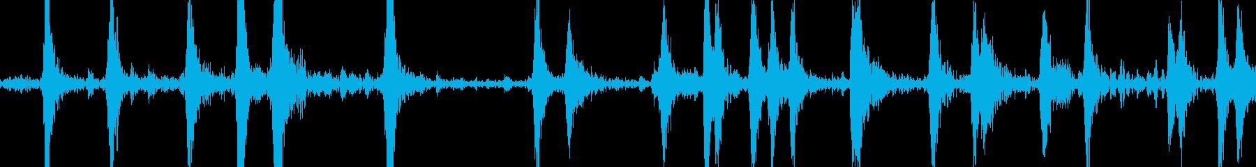 ハーバードプレーンエンジンの咳の開始の再生済みの波形