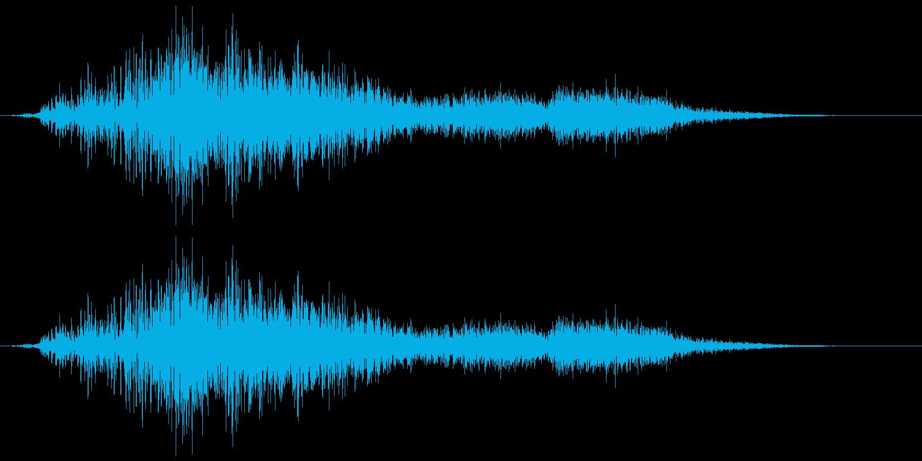 引き戸(ガラス)  ガラガラ、シューの再生済みの波形