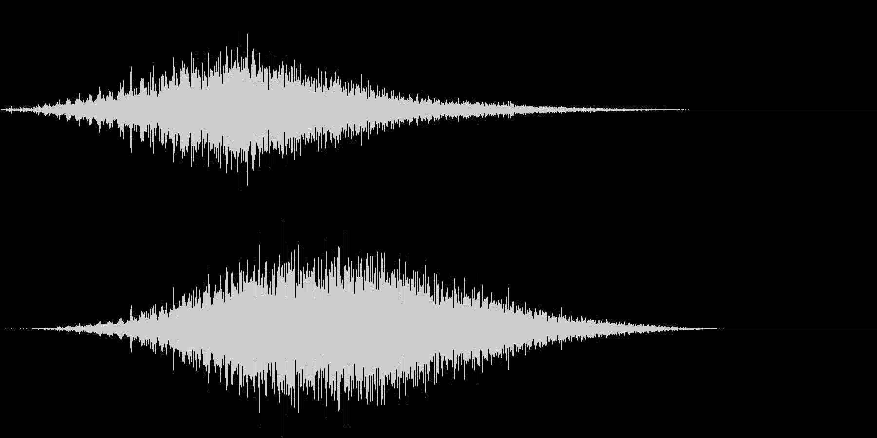 音侍SE「フルフル〜」軽快な振り鈴L-Rの未再生の波形