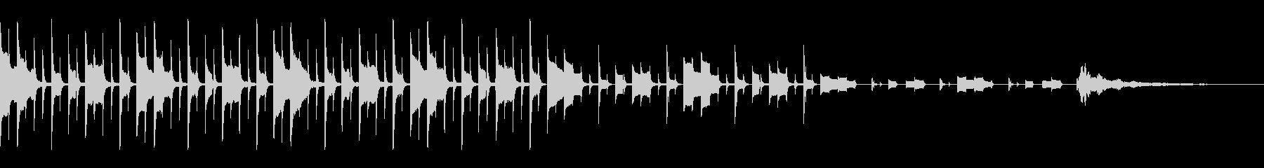 クイズの考え中の音(元気な感じ)の未再生の波形