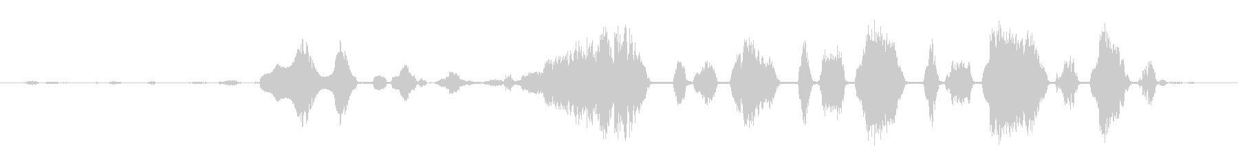 ロバ 泣く04の未再生の波形