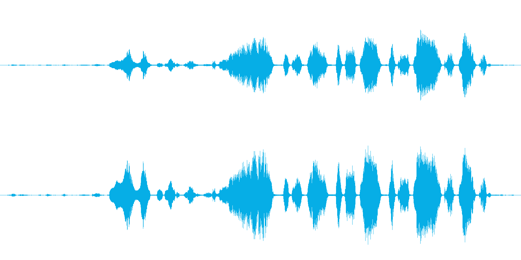 ロバ 泣く04の再生済みの波形