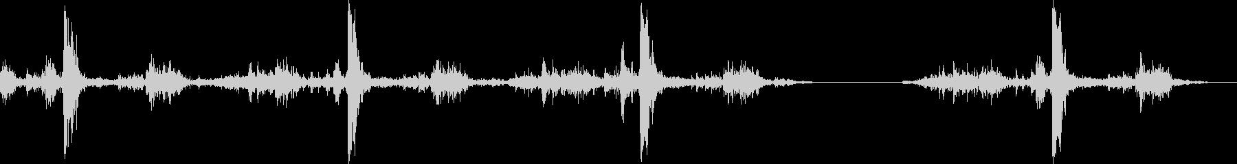 電気タイプライター:短いタイピング...の未再生の波形