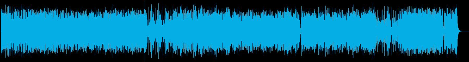 爽快アップテンポなシンセサイザーサウンドの再生済みの波形