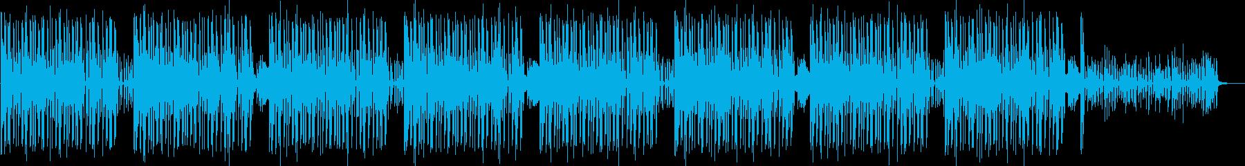 シンセのリズムが心地よいヒップホップ曲の再生済みの波形