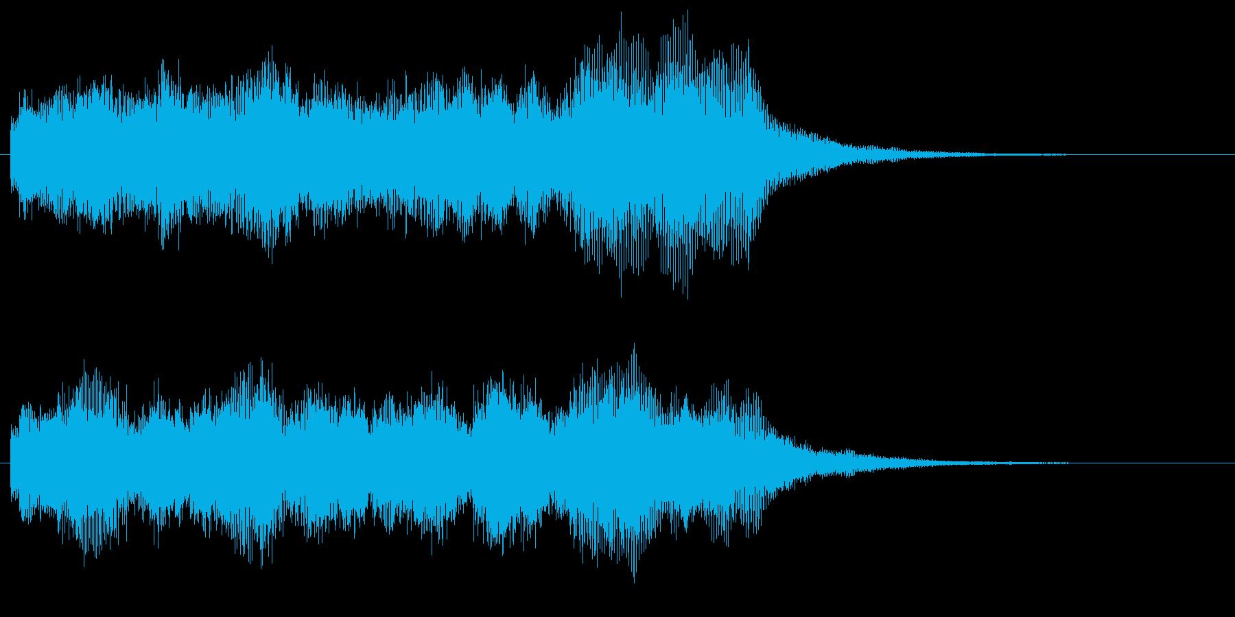 クリア 達成 遂行 場面転換 バイオリンの再生済みの波形