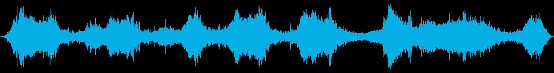 海洋:中規模の遠方の交通騒音の再生済みの波形
